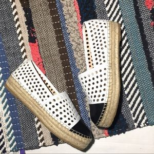 Loeffler Randall Perforated Espadrilles Sz 9